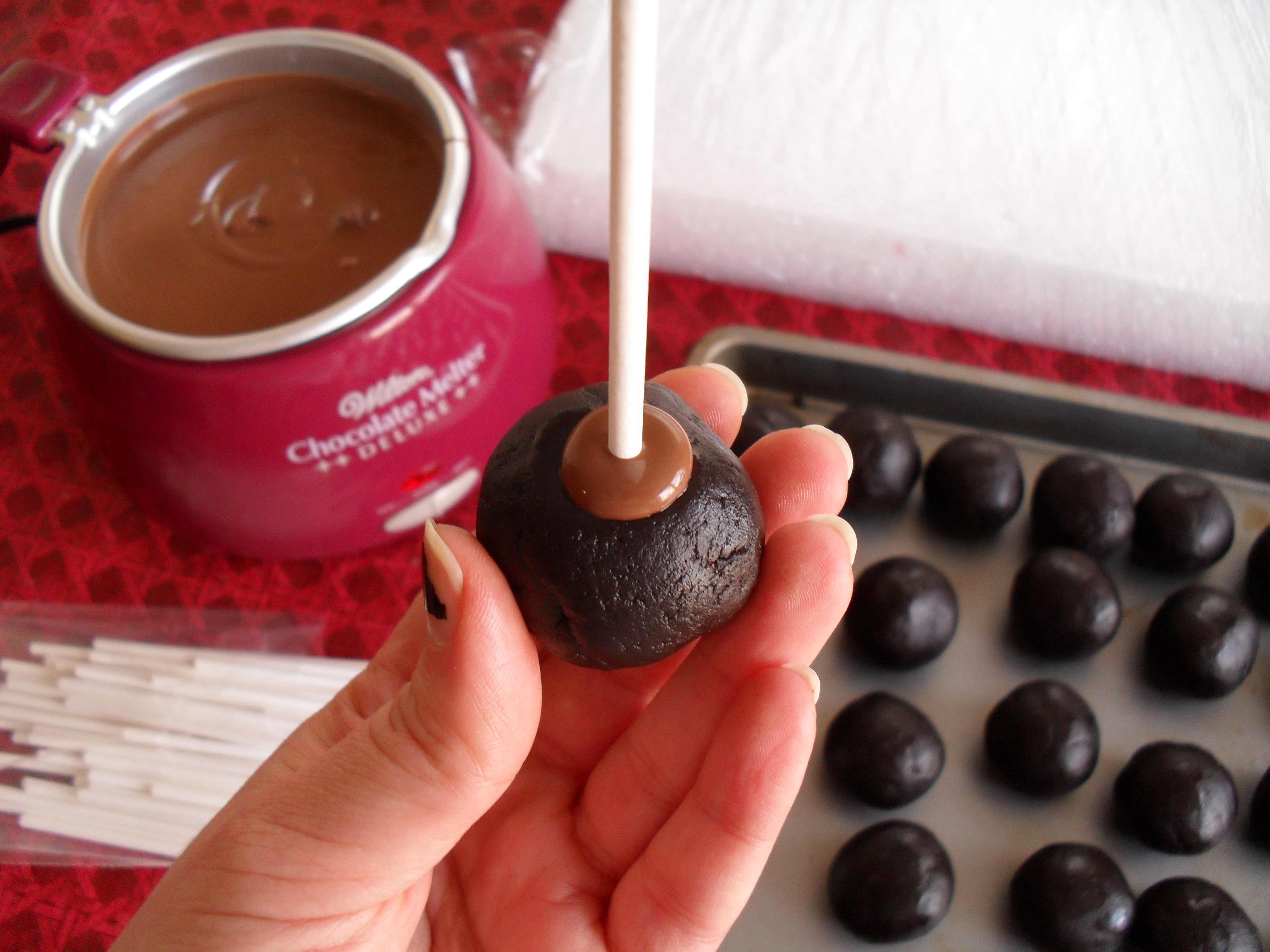 How To Dip Cake Balls In Chocolate