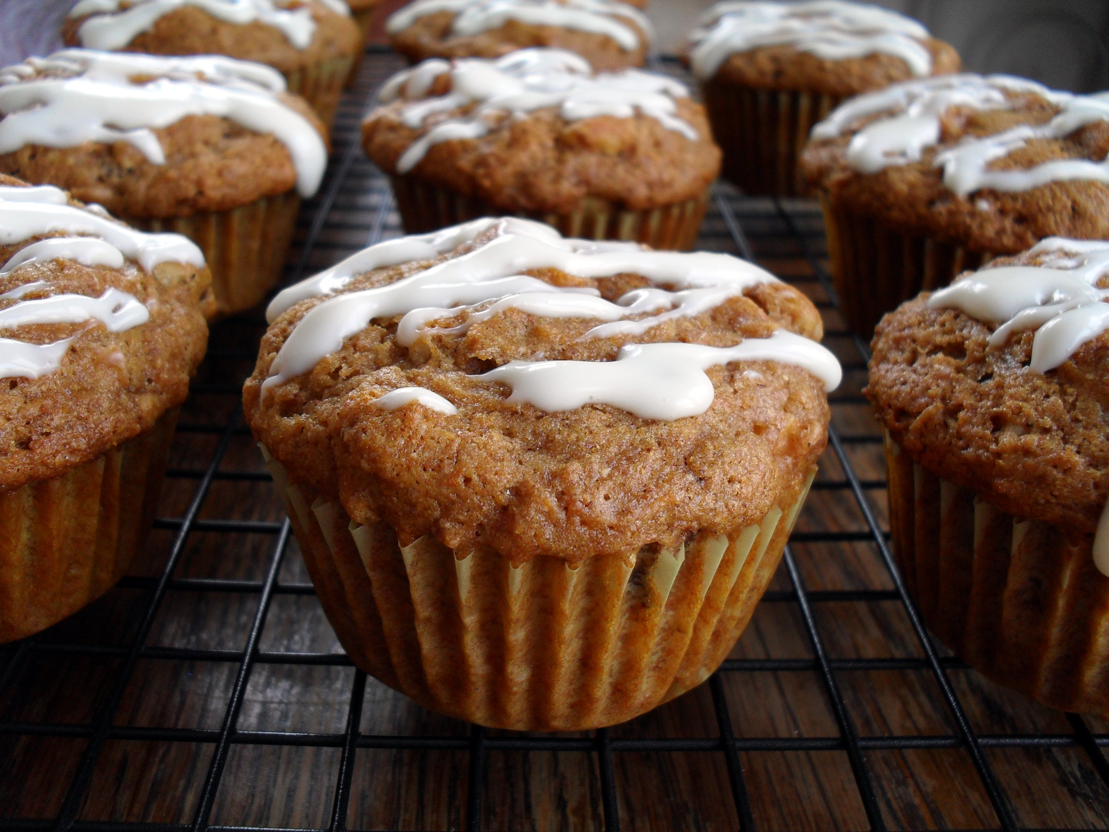 Microwave Carrot Cake Muffins