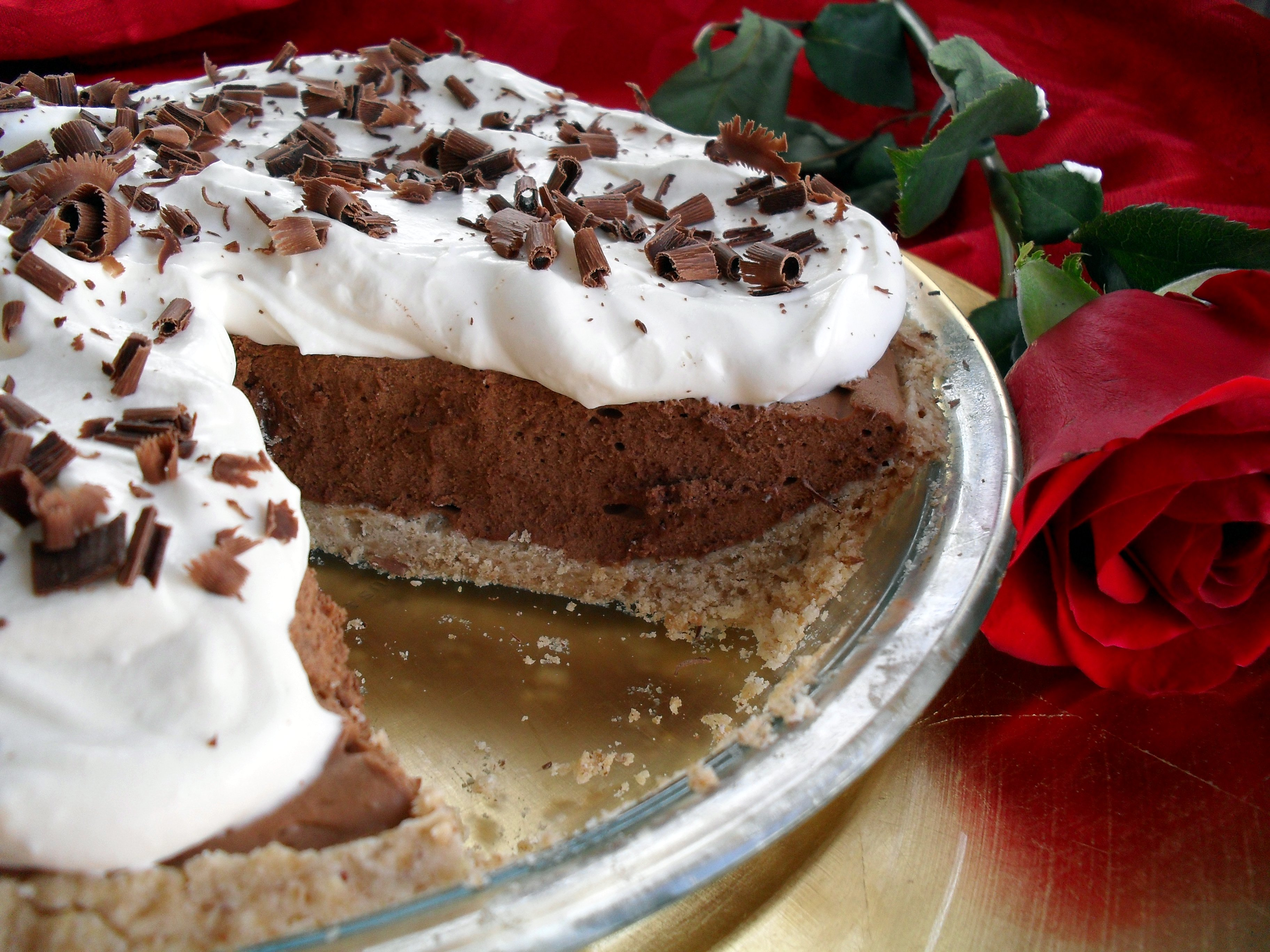 French Silk Pie with Stabilized Whipped Cream | Veronica's Cornucopia