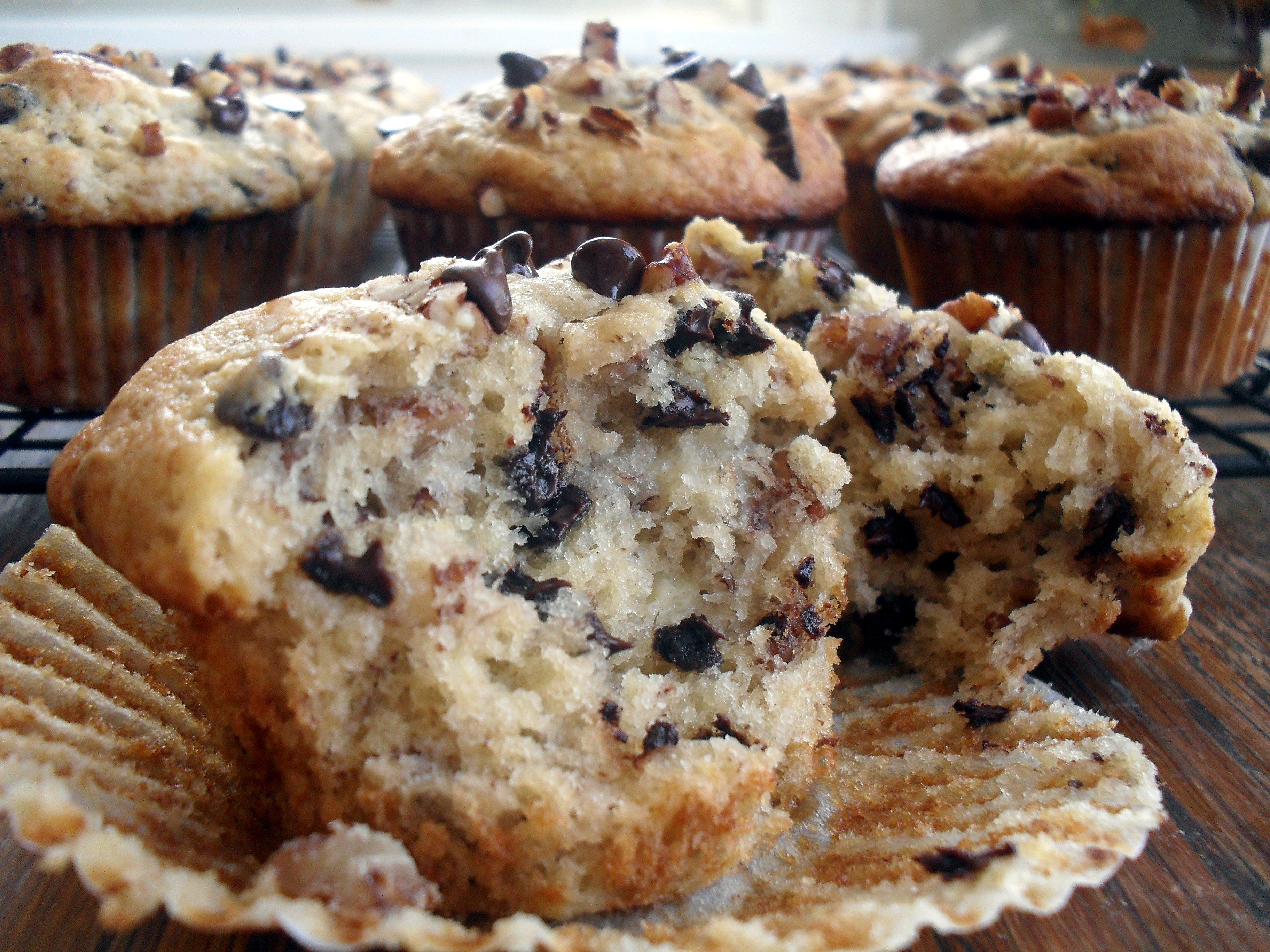 Banana Nut Chocolate Chip Muffins | Veronica's Cornucopia
