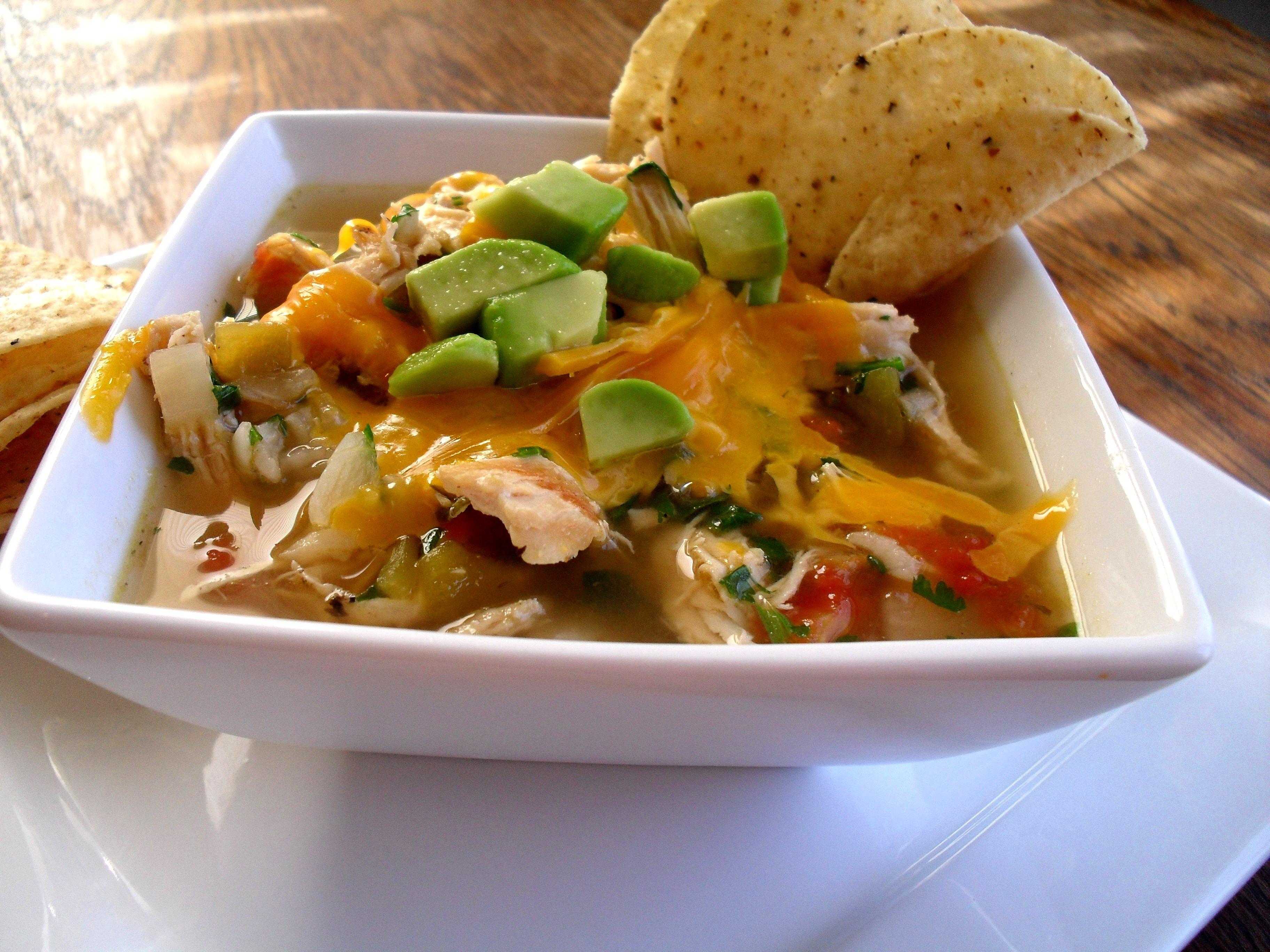 Green Chili Chicken and Lime Soup | Veronica's Cornucopia