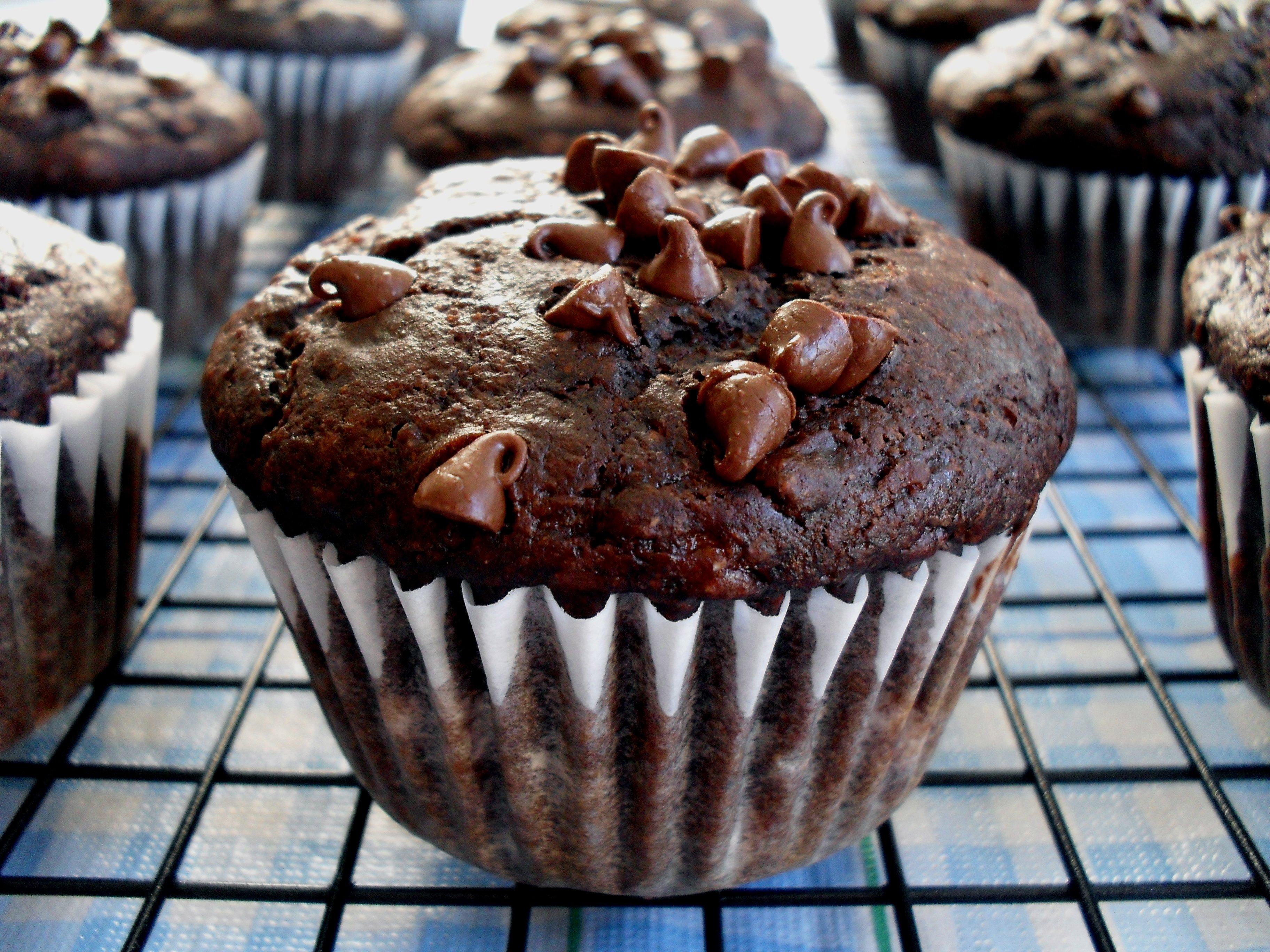 Double Chocolate Banana Muffins   Veronica's Cornucopia