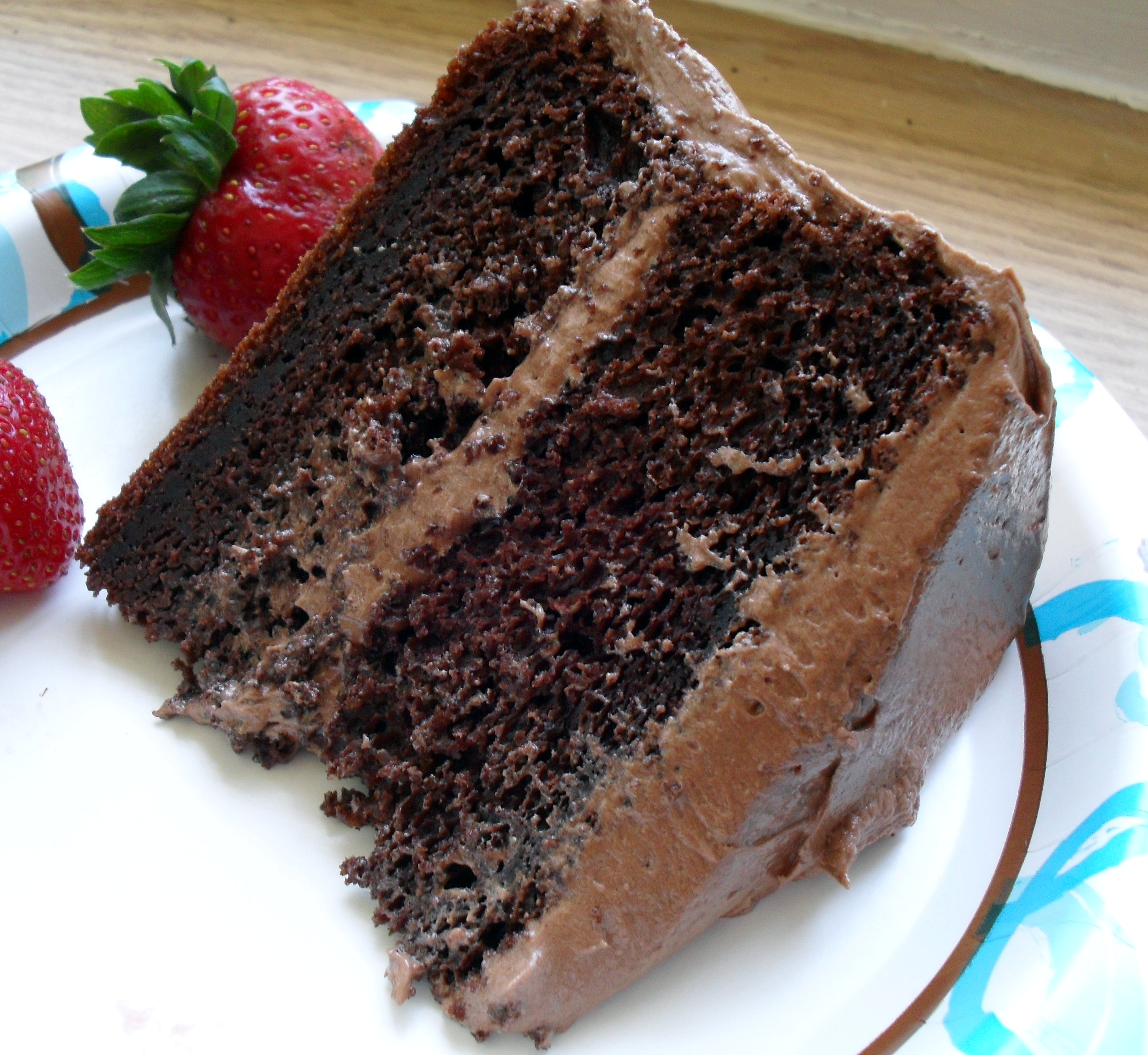 Easy Sour Cream Chocolate Layer Cake With To Die For Chocolate