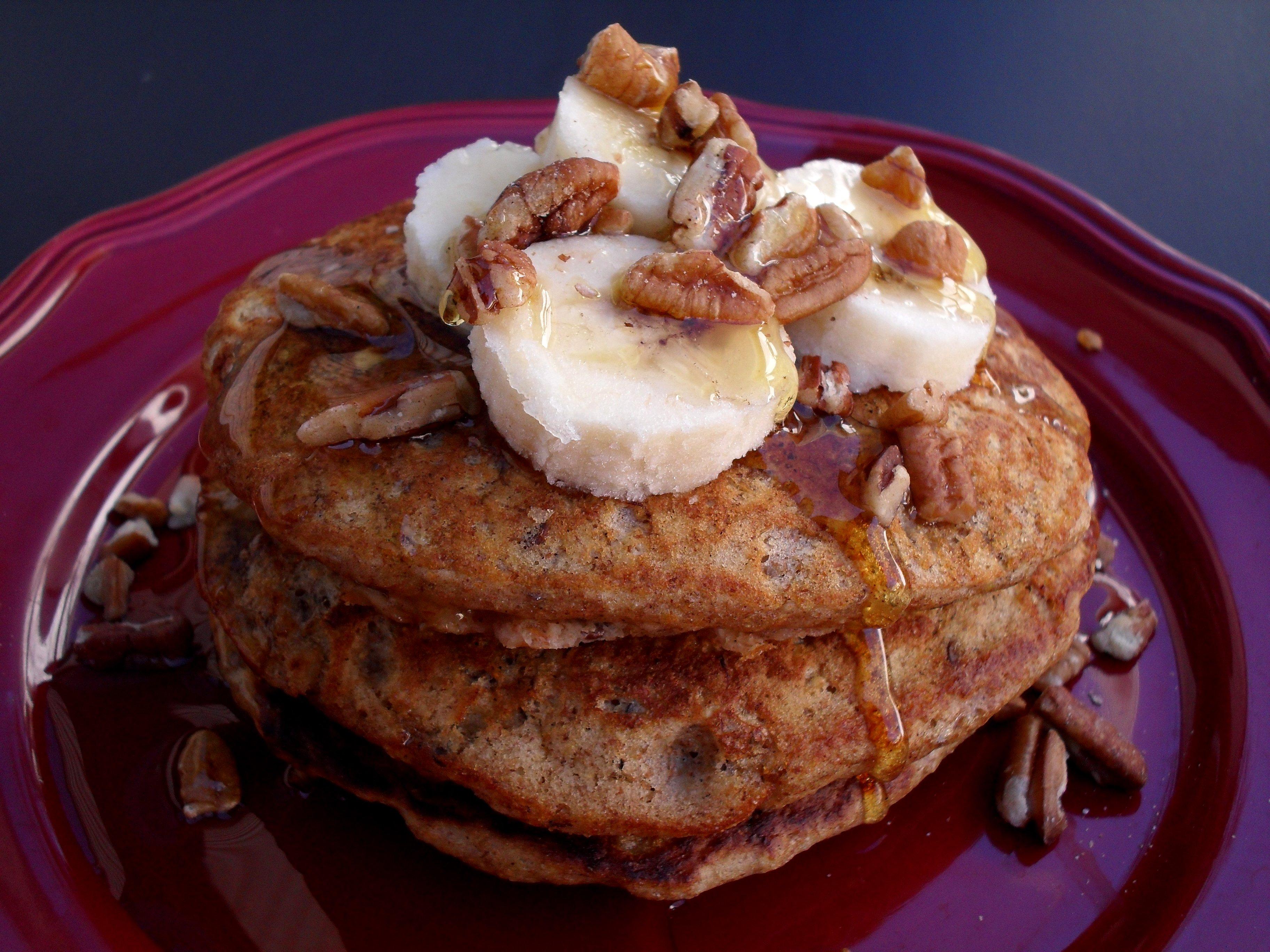 Whole Wheat Banana Pancakes | Veronica's Cornucopia