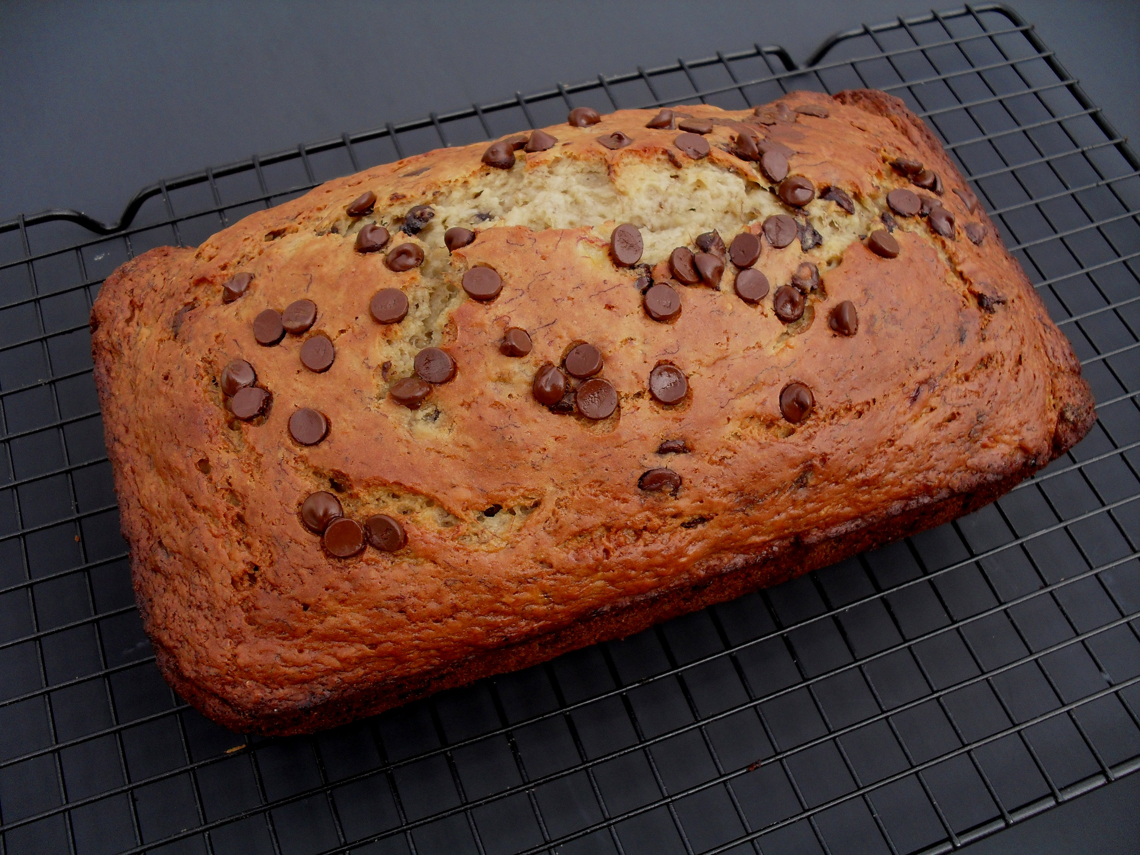 Chocolate Chip Banana Bread (Low-Fat, Low-Sugar) | Veronica's ...