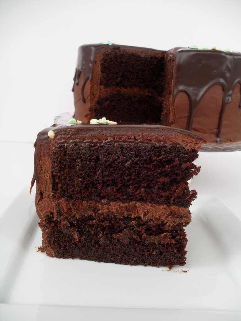 Easy  Tiered Low Sugar Chocolate Cake