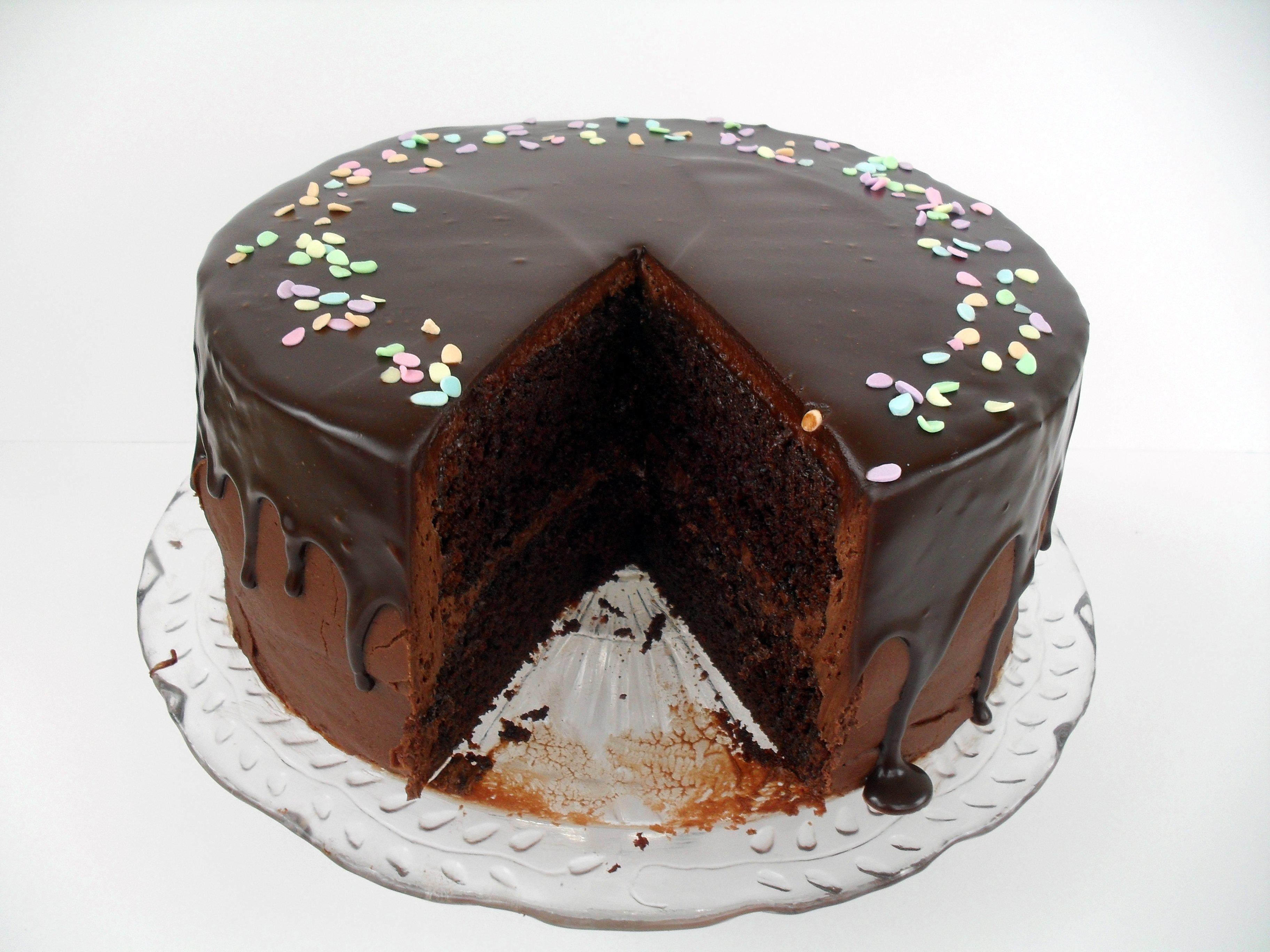 Favorite Chocolate Cake, plus tiered cake tips | Veronica's Cornucopia