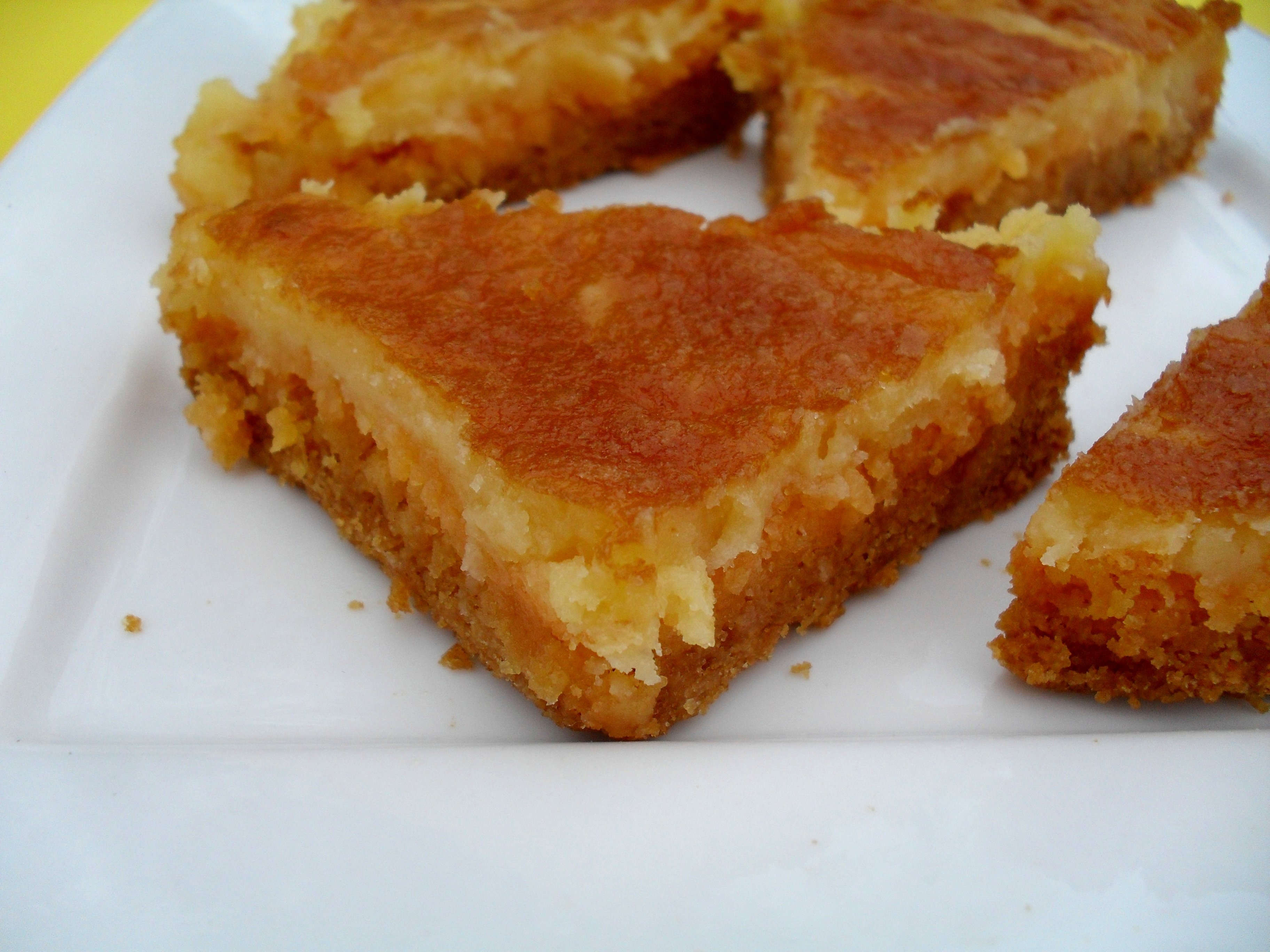 Gooey Butter Bars Without Cake Mix