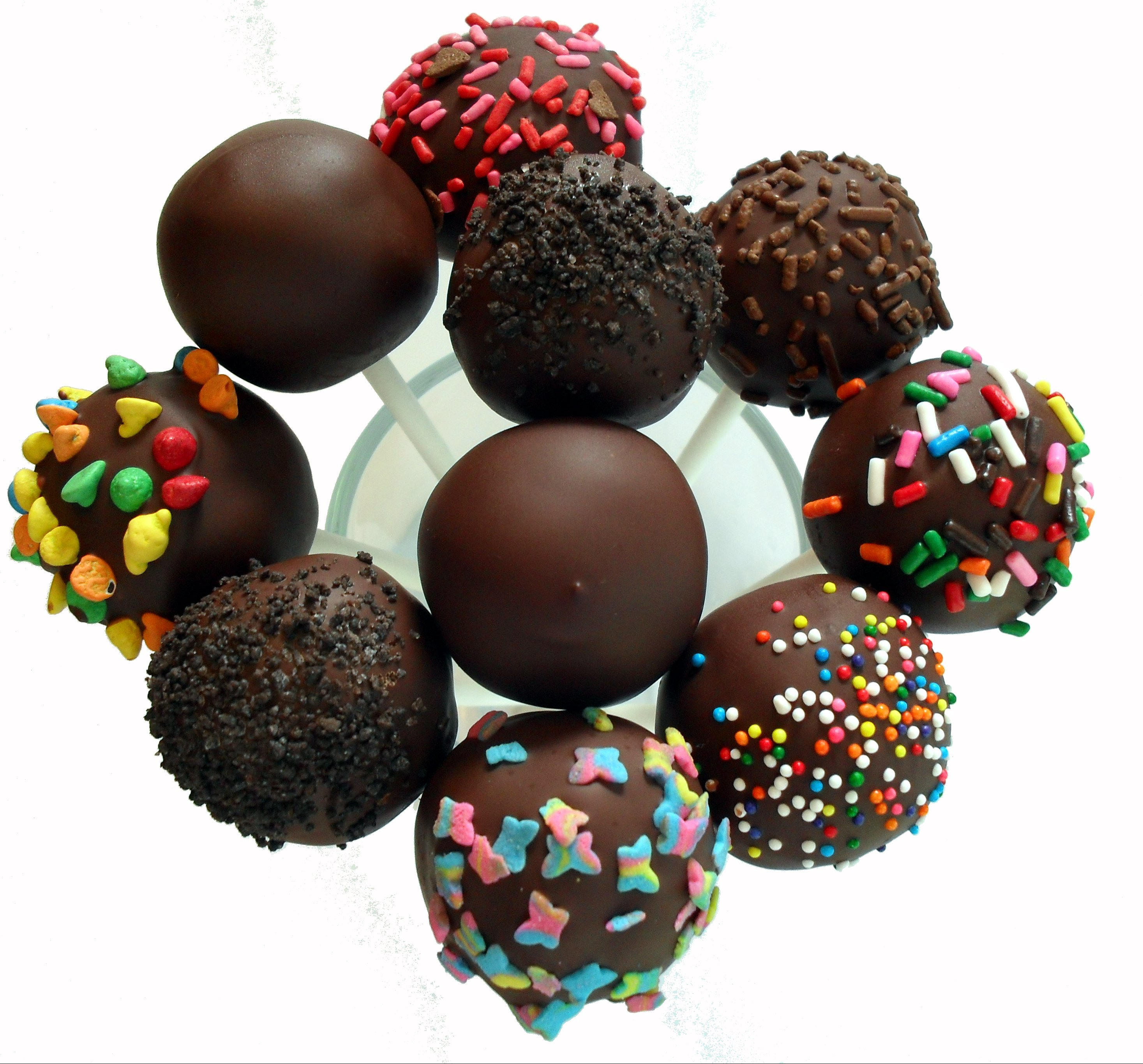 Images Of Chocolate Cake Pops : Vegan Dark Chocolate Cake Pops Veronica s Cornucopia