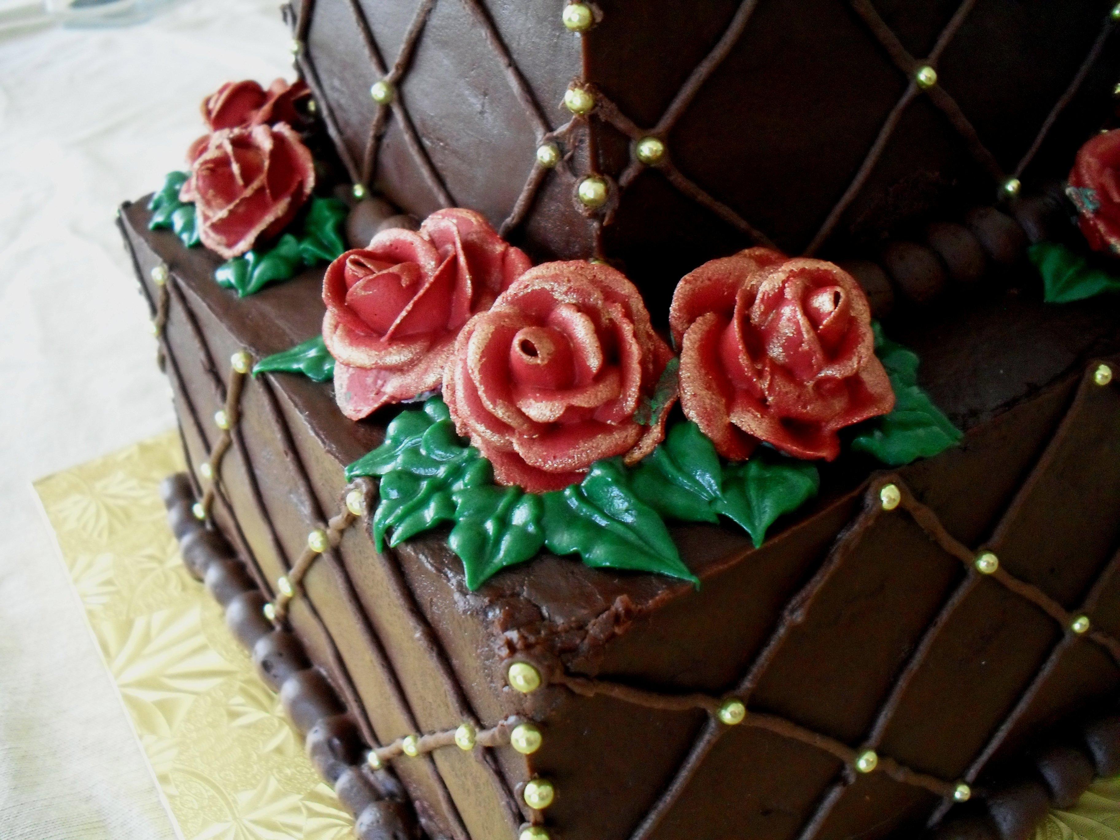 Wright s th anniversary cake  veronica cornucopia