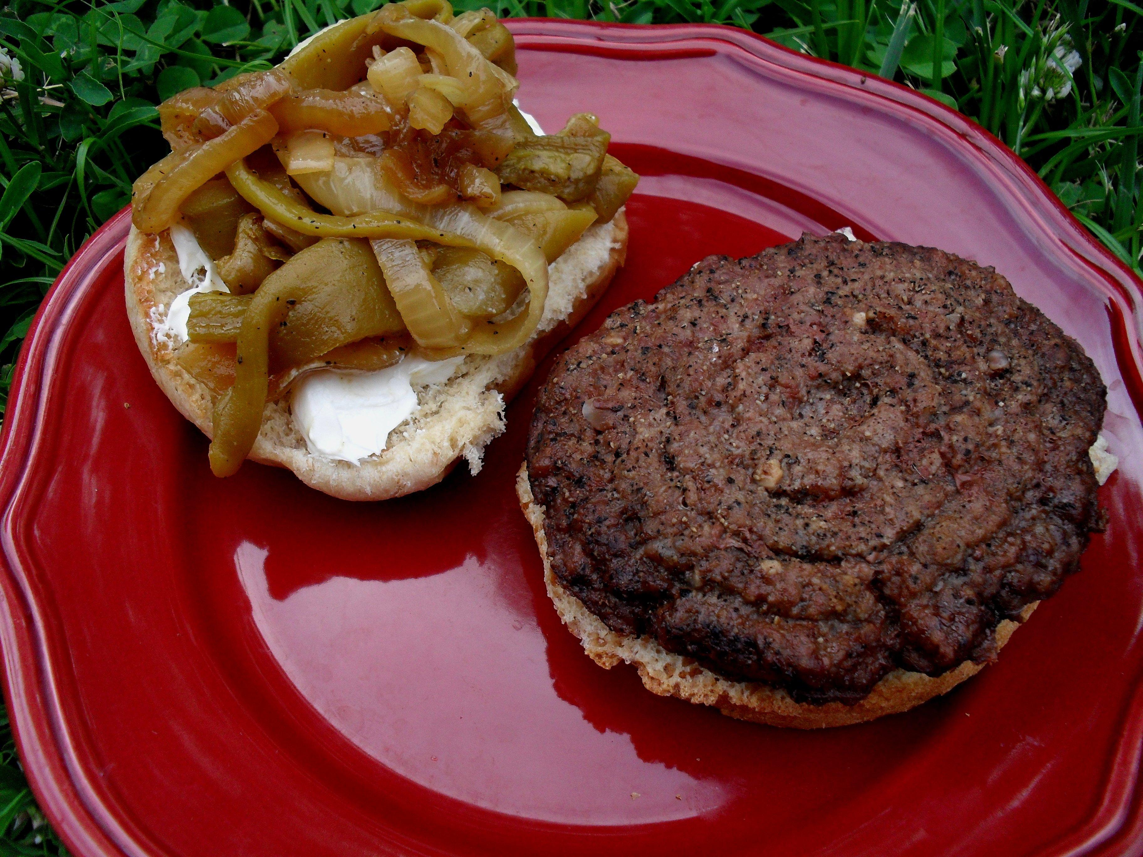 Green Chile Pepper And Cream Cheese Burgers Recipes — Dishmaps