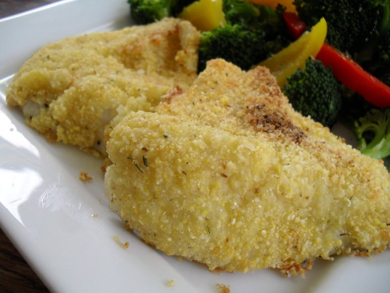 italian cornmeal crusted white fish 6-11-11