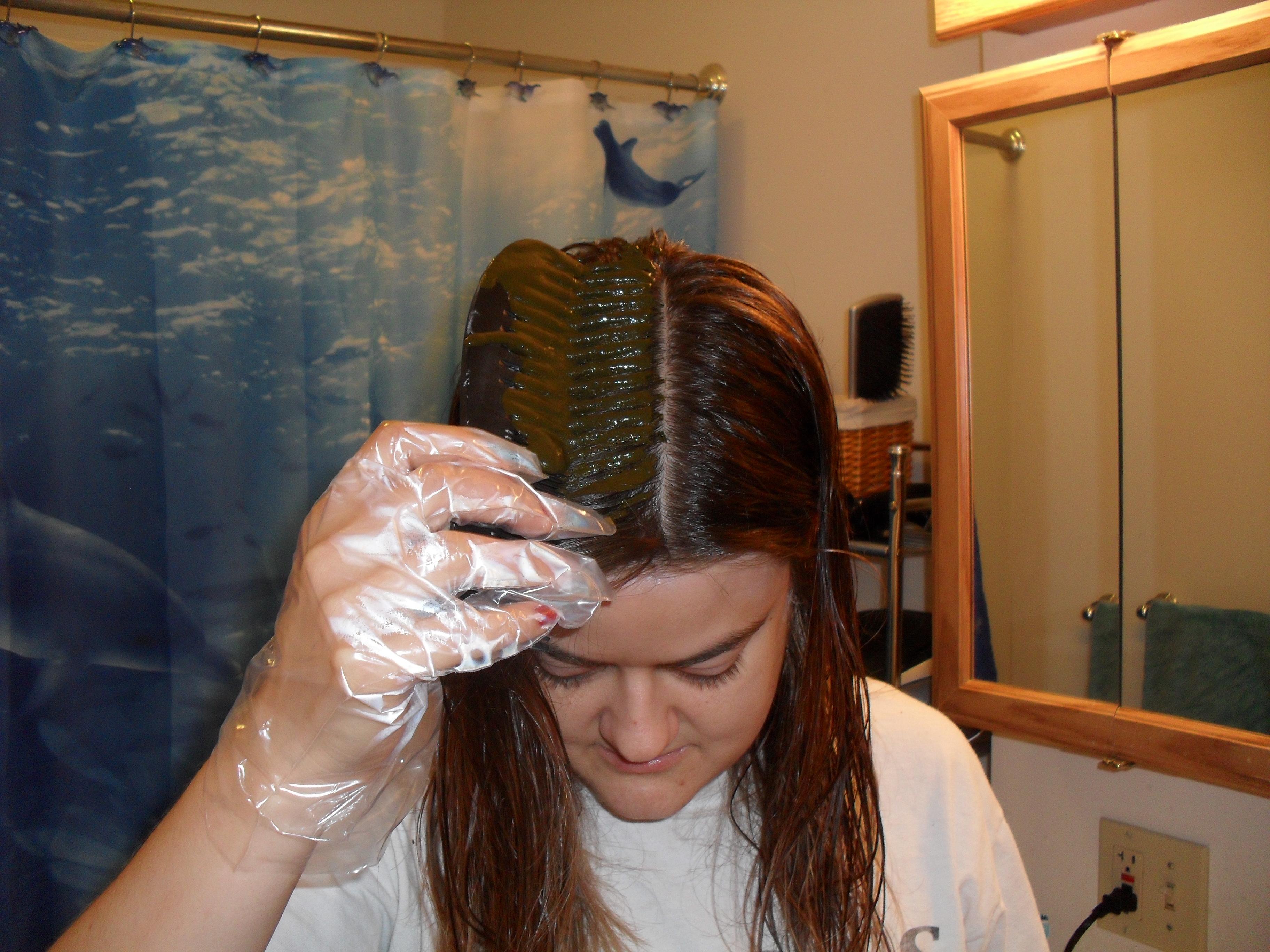 Applying Henna With A Comb Veronica S Cornucopia