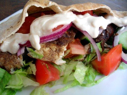 Chicken Shawarma Pita Sandwiches Veronica S Cornucopia