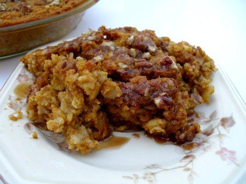 Pumpkin Pie Baked Oatmeal | Veronica's Cornucopia