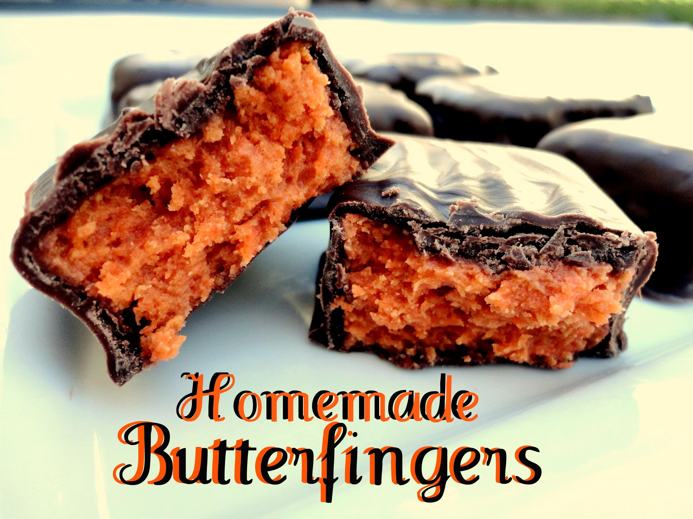 ... with homemade homemade butterfingers homemamde homemade butterfingers
