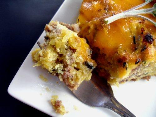 Sausage & Spaghetti Squash Breakfast Pie | Veronica's Cornucopia