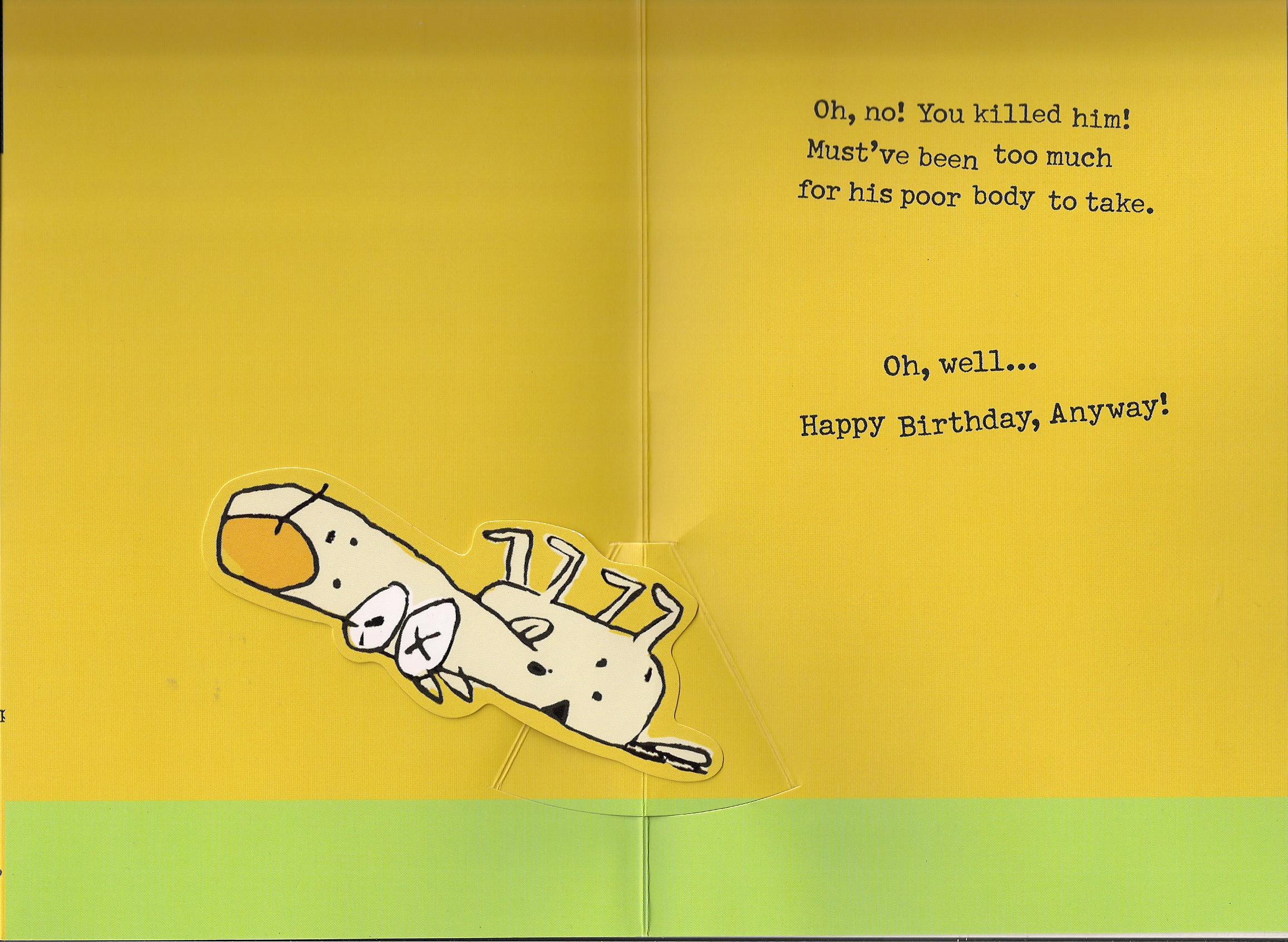 Sammy psychic dog birthday card inside – Birthday Card from Dog